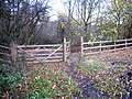 Gated access to Fairy Dell - geograph.org.uk - 1597007.jpg