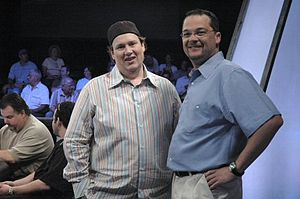 Chris Bell (poker player) - Gavin Smith and Bell at the WPT 2005 Mirage Poker Showdown.