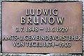 Gedenktafel Brunowplatz (Tegel) Ludwig Brunow.JPG