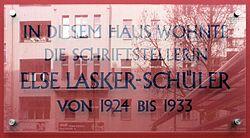 Photo of Else Lasker-Schüler clear plaque