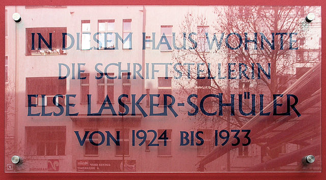Photo of Else Lasker-Schüler clear plaque