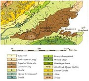 Geological map of London Basin
