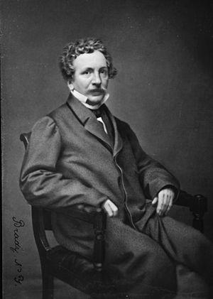 George Payne Rainsford James - Portrait by Mathew Brady