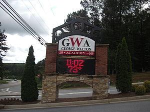 George Walton Academy - North entrance to George Walton Academy campus