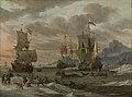 Georges Johannes Hoffmann - Woelige zee met zeilschepen - SK-A-4202 - Rijksmuseum.jpg