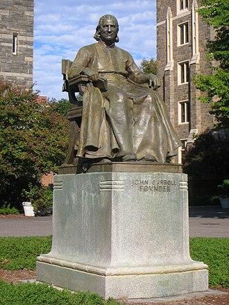 Bishop John Carroll (statue) - The statue in 2010