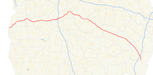 Georgia State Route 27 - Image: Georgia state route 27 map