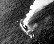 German submarine U-515 afire and sinking on 9 April 1944 (80-G-227198).jpg