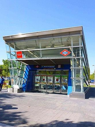 Alonso de Mendoza (Madrid Metro) - Image: Getafe 21