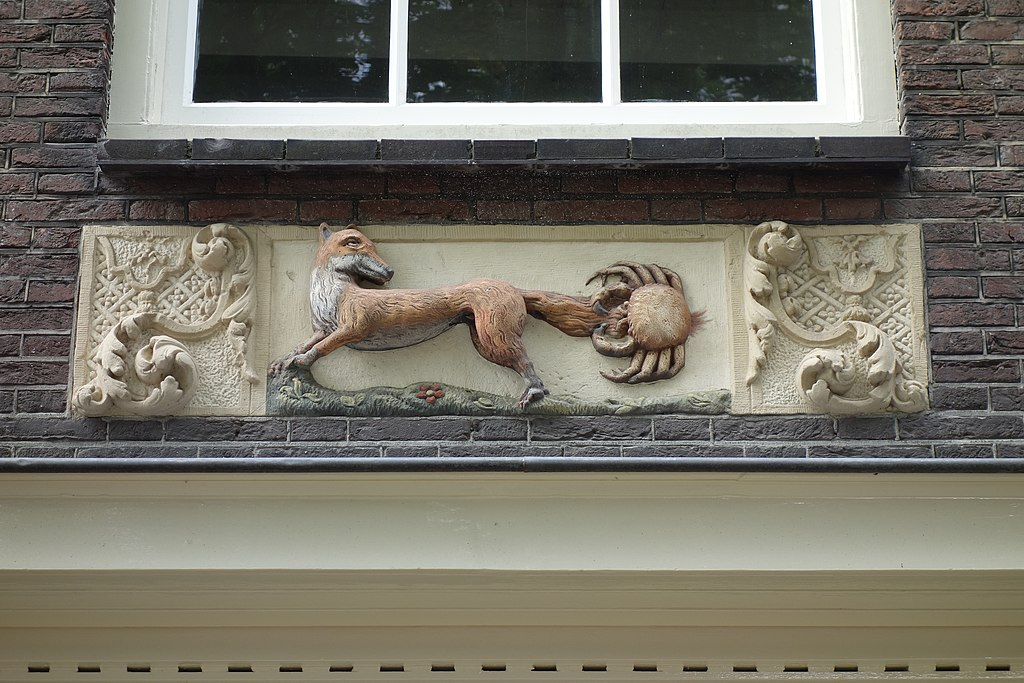 Gevelsteen (ou pierre de façade) à Amsterdam - Photo de Dqfn13