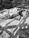 gezicht over de gewelven van het koor op de gevel boven de triomfboog - angerlo - 20022345 - rce