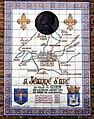 Gien (Loiret), plaque commémorative des passages de Jeanne d'Arc en 1429 1.jpg