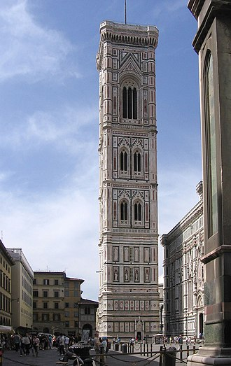 Giotto's Campanile - View of the bell tower from the east