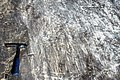 Glacial striations from Pleistocene glaciation on dolostone (Dunham Dolomite, Lower Cambrian; Route 2 roadcut, southeast of the Lamoille River bridge, Vermont, USA) 13.jpg