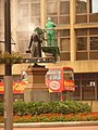 Glasgow, cleaning time for George Square statues - geograph.org.uk - 1534201.jpg