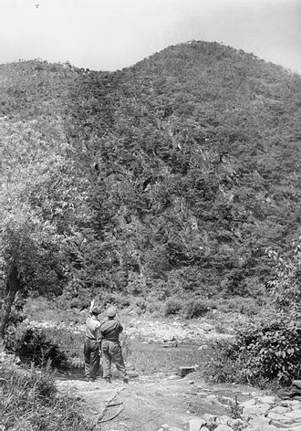 Battle of the Imjin River - Gloster Hill five weeks after the Battle of Imjin.