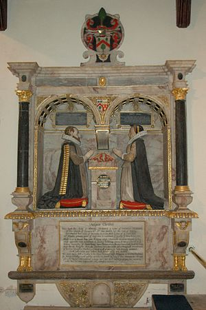 Glympton - Alabaster monument to Thomas and Maud Tesdale in St Mary's chancel