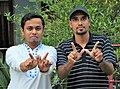 GoArif with Delwar Hossain (Founder Member at Chandpur Wikipedia Community).jpg