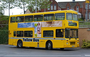 Northern Counties Palatine - Image: Go North East bus 3900 Volvo Olympian Northern Counties Palatine I no grille R549 LGH Yellow Bus livery in Gateshead 5 May 2009