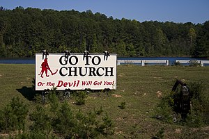 Interstate 65 in Alabama - Image: Go to church..