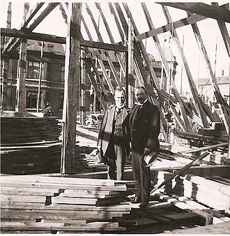 Godthaab Church, Copenhagen - Gotfred Tvede at the construction site