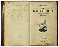 The Sorrows of Young Werther cover