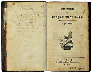 <i>The Sorrows of Young Werther</i> 1774 novel by Johann Wolfgang von Goethe