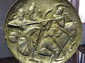 Gold-Plated Silver Dish - Sasavid Period - Azerbaijan Museum - Tabriz - Iranian Azerbaijan - Iran (7421572784).jpg