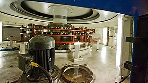 Gordon Power Station - Image: Gordon Power Station Stator and Rotor