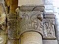 Gournay-en-Bray (76), collégiale St-Hildevert, bas-côté nord, chapiteau de l'arcade vers le transept, côté nord 1.jpg