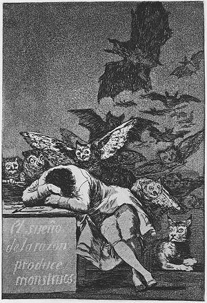 Pure (Miller novel) - Image: Goya Caprichos (43) Sleep of Reason