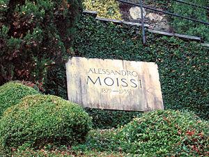 Aleksandër Moisiu - Moissi's grave, Morcote cemetery