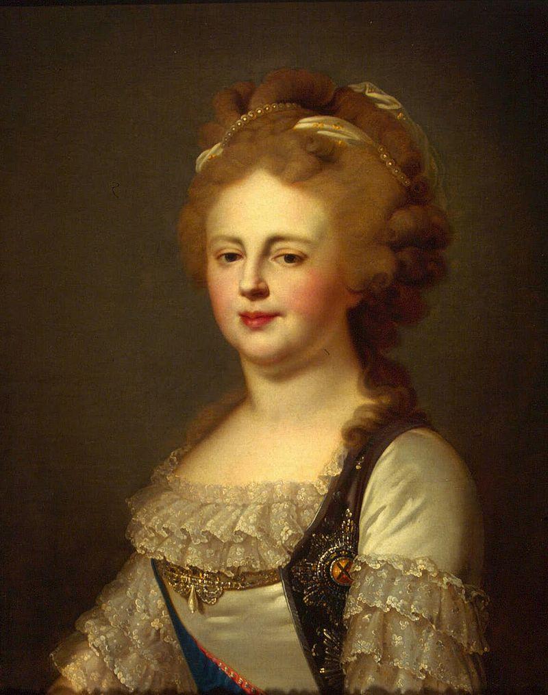 Великая княгиня Мария Федоровна в образе Лампи Старшего (после 1796 г., Эрмитаж) .jpg