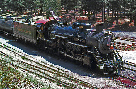 Locomotive No. 4960 at the Grand Canyon Depot Grandcanyon railroad.jpg