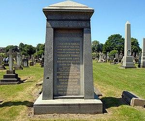 Hugh Owen Thomas - Memorial in Toxteth Park Cemetery