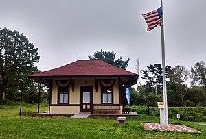 Aptucxet Trading Post Museum - Gray Gables Railroad Station building at the Aptucxet Trading Post Museum