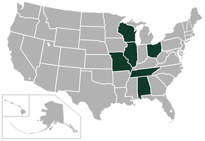 Great Midwest Conference - Image: Great Midwest Conference USA states