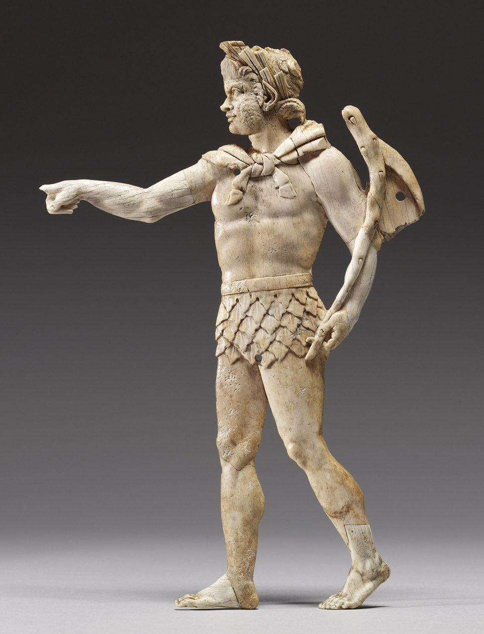 Greek - Appliqué with Satyr Walking to Left - Walters 71557 (cropped)