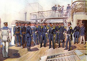 Hellenic Navy - Navy uniforms in the 1890s.
