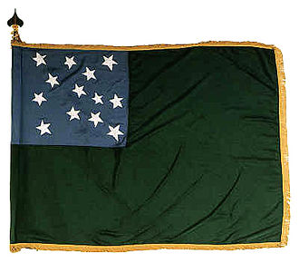 Green Mountain Boys - Replica of the 1777 flag from the Battle of Bennington.