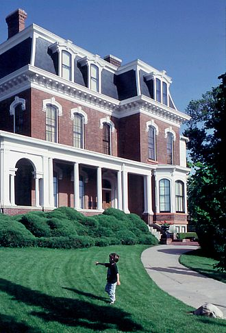 Council Bluffs, Iowa - The Grenville M. Dodge House, built in 1869 and listed on the National Register of Historic Places