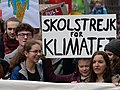 Greta Thunberg at the front banner of the FridaysForFuture demonstration Berlin 29-03-2019 05.jpg