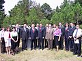 Groundbreaking ceremony at the future site of Central Pathogen Storage Facility; Senator Richard Lugar, Gela Bezhuashvili, Vladimir Chipashvili, Giorgi Baramidze and Ambassador Miles (August 30, 2004).jpg