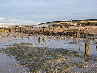 The Swale channel in the Thames estuary