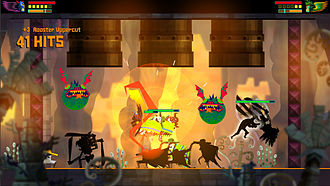Beat 'em up - Guacamelee! is a brawling-based game based on luchadors fashioned after a Metroid-style adventure game.