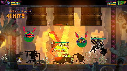 Guacamelee! is a brawling-based game based on luchadors fashioned after a Metroid-style adventure game. Guacamelee! screenshot B.jpg