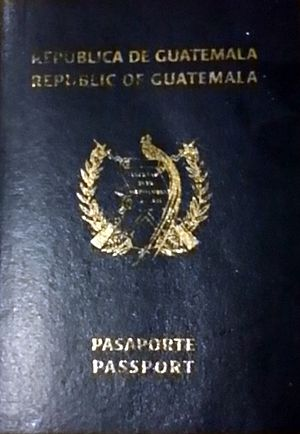 Guatemalan passport - Former cover of the Guatemalan passport, in use until 2006.