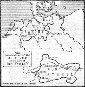 Henry the Lion - Henry's duchies Saxony and Bavaria