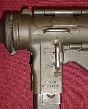 M3 submachine gun - M3 receiver markings