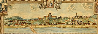 Siege of Buda (1849) - Castle of Buda on a Guild letter 1816